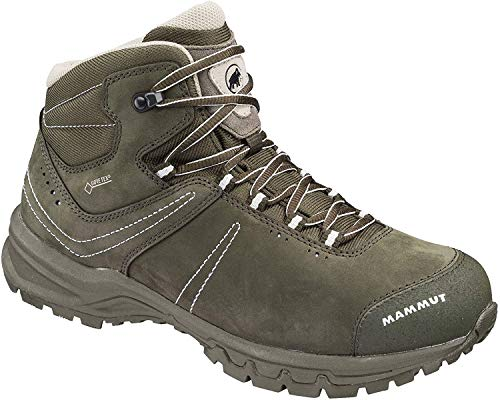 Mammut Damen Trekking- & Wander-Schuh Nova III Mid GTX, Grau (bark-white 0627), EU 39 1/3