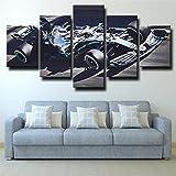 Gxucoa Leinwand Wandbild 5 Teilig Leinwand Bilder Formel 1