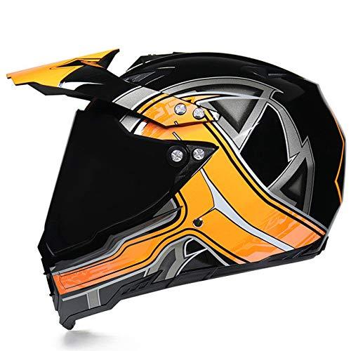 MYSdd Herren Motorradhelm Motocross Racing Helm Universal Schutz Motorradfutter Abnehmbar 19-632 L