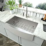 Stainless Farmhouse Kitchen Sink - Mocoloo 33 Inch Stainless Steel Farmhouse Sink 16 Gauge 10' Deep Single Bowl Apron Front Farm House Sink