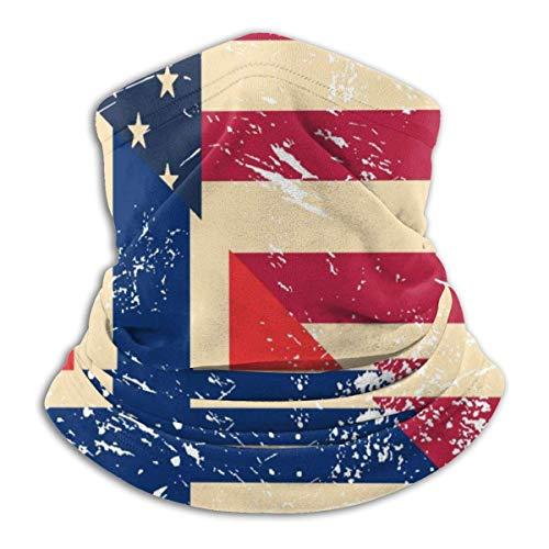 Emonye Headwear Face,American and Norway Retro Flag Neck Gaiter DIY for Football Headwear Face Shield,25x30cm