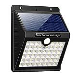 iPosible 【3 Modalità-1800mAh】 Luce Solare da Esterno, 46 LED Lampada Solare con Sensore di Movimento Impermeabile Luci Solari da Parete Wireless Illuminazione Solare LED per Giardino,Patio