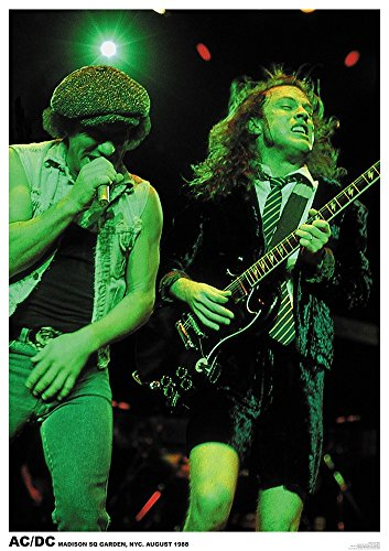 AC/DC Poster Angus & Brian Madison Square Garden New York 1988 Blow UP Your Video