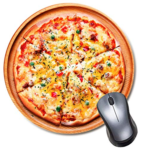 Pizza Round Mouse Pad, Delicious Pizza Mouse Pad, Cute Funny Gift Mouse Mat, Food Mousepad