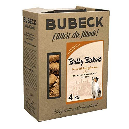 BUBECK | Hundekuchen mit Geflügel, Schwein und Rind | 4 Kg Bully Biskuit | Ergänzungsfuttermittel für Hunde