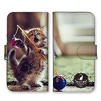 Galaxy A21 SC-42A 手帳型 スマホ ケース カバー スマホケース スマホカバー 子猫 遊ぶ 写真 GalaxyA21 ギャラクシーA21 21946