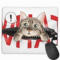 マウスパッド オフィス最適 猫 なに ゲーミング 防水性 耐久性 滑り止め 多機能 標準サイズ25cm×30cm
