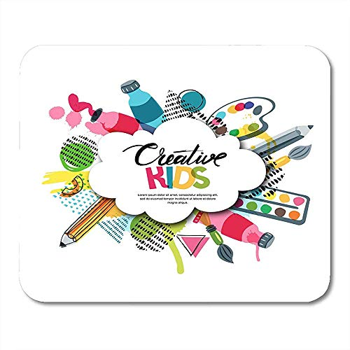 Muis Pads Kids Craft Onderwijs Creativiteit Klasse Met Cloud Vorm Letters Potlood Penseel verven muismat Voor Notebooks Muismatten