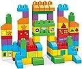Mega Bloks Juego de bloques de construcción bebé 1 año Construye y Aprende (Mattel FVJ49) de Mattel