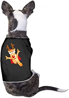 Pet T-Shirt Christmas Pet Clothes Dog T-Shirts Clothes Merry Christmas Dog Cat Pet Shirts Cotton Shirts Soft and Breathable - (Sky Blue, Gray, Yellow, Black)