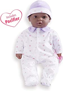 JC Toys, La Baby 16-inch African American Washable Soft Baby Doll with Baby Doll Accessories - for Children 12 Months and Older, Designed by Berenguer
