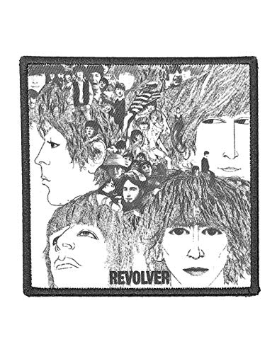 The Beatles Patch Revolver Album Cover Nue offiziell Schwarz embroidered Iron on