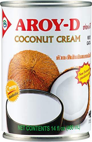 Aroy-D Kokosnusscreme, Fettgehalt: 4er Pack (4 x 400 ml)