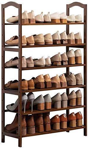 Wddwarmhome Rack de Almacenamiento de Zapatos de bambú de 6 Pisos, Ideal for Corredores, Salas de Estar, baños, dormitorios o pasillos (Size : 50 * 25 * 108cm)