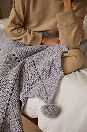 DMC Mindful Making - Juego de manta de ganchillo (varios tamaños)