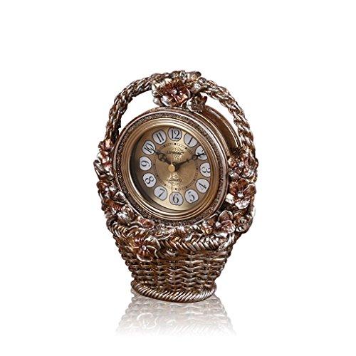 Style européen petit lit de fleurs chambre à coucher pendule pendule horloge salon décoration rétro horloge de table
