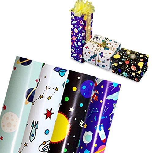 6 PCS Geschenkpapier Geburtstag,Geschenkpapier Weihnachten,Packungen Geschenkpapier,Geschenkpapier Kinder,Geschenkverpackung für Geburtstag, Weihnachten, Valentinstag.