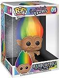 """Funko- Pop Classic-10 w/Chase Trolls Classic 10"""" Troll Multicolored Hair Figura Coleccionable, Multicolor (47205)"""