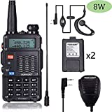 TIDRADIO TD-F9GP 8Watt Ham Radio Handheld Upgraded Version of Baofeng UV-5R Radio Uhf Vhf Radio 2...