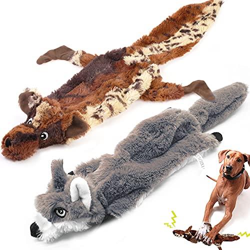 Juguete para Perro con chirriador, de la Marca, Duradero, de Felpa, para Masticar Perros, para Perros medianos y Grandes, 2 Unidades