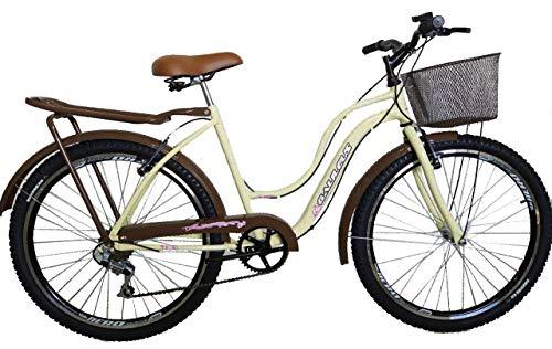 Bicicleta aro 26 galileus feminina modelo novo (vermelha)