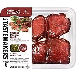 Tyson Tastemakers Premium Pairings Smoked Paprika Steak with Chimichurri, 18 oz., Serves 4