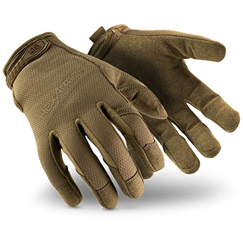 HexArmor Hex1 2132 Tan Tactical Work Gloves with Grip and Touchscreen Compatibility, XX-Large