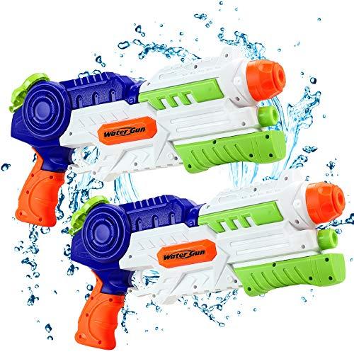 lenbest Water Gun for Kids 2 Pack, Powerful Water Pistol with 1.2L Moisture Capacity | 32ft Long Range...