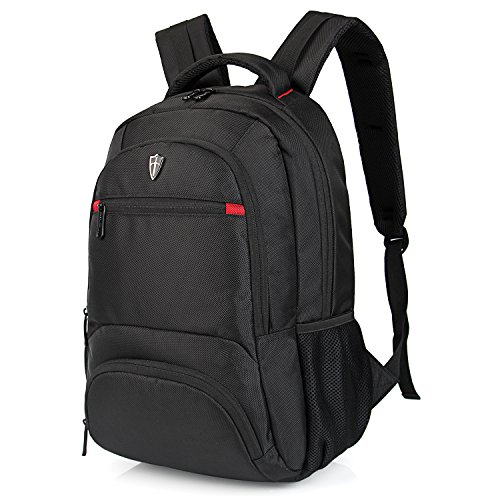 Victoriatourist V6025 Laptop Backpack College Rucksack Business Travel Hiking Daypack Fits MacBook Pro/Most 14' Laptops, Black