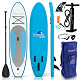 SereneLife Inflatable Stand Up Paddle Board (6 Inches Thick) with Premium...