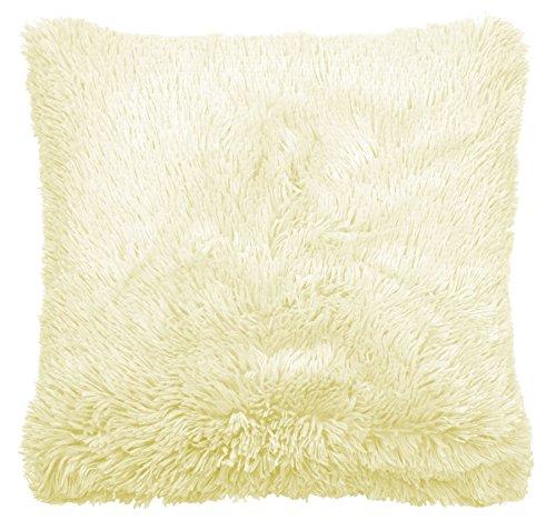 Catherine Lansfield Cuddly Cushion Cover, Cream, 45 x 45 Cm