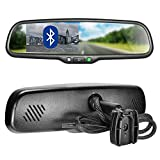 "Master Tailgaters OEM Bluetooth Rear View Mirror with 4.3"" Auto Adjusting Brightness LCD - Universal Fit, Hands Free Calling w/Built in Speaker & Microphone"