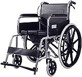 JFZCBXD Rollstuhlselbstfahrer Folding Leicht Verstellbare Fußstütze Lauf Bremsen, Gerät Mobilität für ältere Menschen, Behinderte, und behinderte Nutzer -