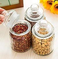 KITCHEN SHINE 350 ml pop Glass jar Kitchen Storage Container Set of (10)