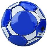 Qiilu Fútbol para niños, deporte al aire libre en interiores Entrenamiento de balones de fútbol para niños con aguja de inflado y red(Azul)