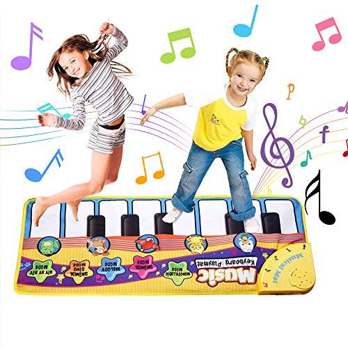 Faburo Piano Mat Musik Matte Tanzmatte Kinder Tastatur Matte Spielzeug für Kinder Lernspielzeug Klaviermatte(70 * 30cm)