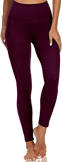 Opuntia Women's Tummy Control High Waist Workout Yoga Pants Non See-Through Running Sports Gym Leggings with Pocket