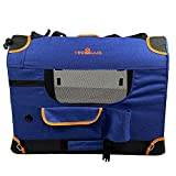 YEP HHO Upgrade Pet Carrier Bag, Cat Carriers Dog Carrier Pet Carrier for Small Medium Cats Dogs Puppies of 15 Lbs, Collapsible Airline Approved Small Dog Carrier (51 x 33 x 33cm) -Navy Blue