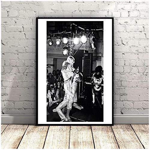 wzgsffs David Bowie Und Mick Ronson Musikstar Wandkunst Poster Und Drucke Druck Auf Leinwand Für Wohnzimmer Home Schlafzimmer Dekoration-20X30 Zollx1 Rahmenlos