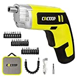 CACOOP Electric Cordless Screwdriver Rechargeable Set 4V 1500mAh Li-ion Battery MAX Torque 5N.m