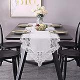 Tablecloths Mode Tischläufer Spitze Weiß für Esszimmer Party Fernsehschrank Kaffetisch Urlaub Dekoration Gießen (Size : 50 * 120cm)