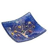 SOSPIRI VENEZIA Placa DE Cristal Murano Cuadrado rbol de la Vida 10 x 10 cm, tcnica de fusin de Vidrio y Uso de Decoraciones de Murano. En su Elegante Caja litografiada. Made in Venice, Italy