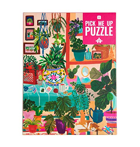 Talking Tables- Puzzle de 1000 Piezas Interior, con póster de Plantas a Juego y Hoja de Trivia |Diseño ilustrado Colorido, cumpleaños, Regalos para Mujeres, Arte de la Pared, Color (PUZZ-PMU-Plants)