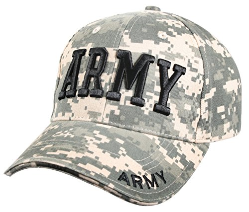 Rothco Deluxe Army Embroidered Low Profile Insignia Cap, ACU Digital Camo