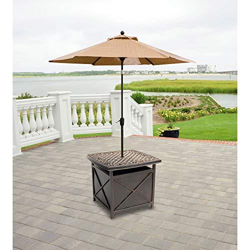 Hanover TRADUMBTBL Traditions Aluminum Rust-Free Patio Umbrella Base, Oil-Rubbed Bronze Outdoor Furniture