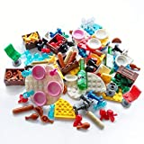 140X Dinner Party Parts Compatible Major Brand Food Set Chairs Tables Brick Block Building Toys