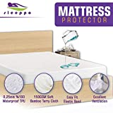 Sleeppo Protège Matelas-Alèse Imperméable, Respirant en Molleton 180x190/200 cm Anti-Bactérien, Anti-Acarien, 100% Coton, Ultra Doux.