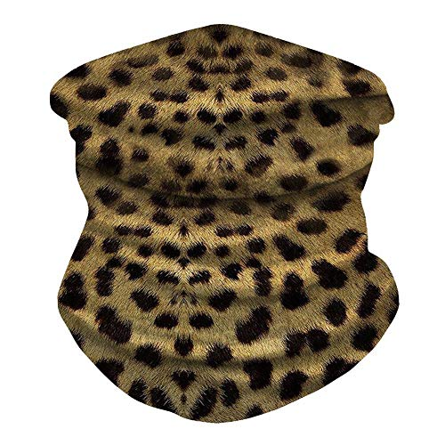 Unisex Novelty 3D Animal Leopard Print Face Bandana Sport Headwear Multifunctional Seamless Rave Neck Gaiter Scarf Summer UV Protection Tube Headwrap Women Men Anti Dust Wind Balaclava for Outdoor #H