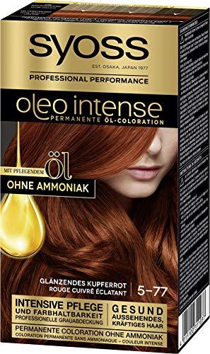 SYOSS Oleo Intense Permanente Öl-Coloration 5-77 Glänzendes Kupferrot, mit pflegendem Öl & ohne Ammoniak, 3er Pack (3 x 115 ml)
