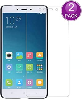 E-Hamii [2-Pack] Protector de Pantalla para Xiaomi Redmi Note 4, 9H Vidrio Templado Protectora, HD Proteger Película Anti-Scratch y Anti-Huella Digital (Nota: no Cobertura Completa)